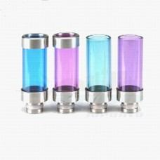 Tobeco Wide Bore Glass & 2 Side SS Drip Tip